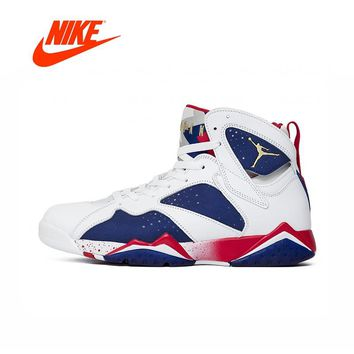 Original New Arrival Authentic Nike Air Jordan 7 Olympic Substitute AJ7 Men's Basketball Shoes Sport Outdoor Sneakers 304775-123