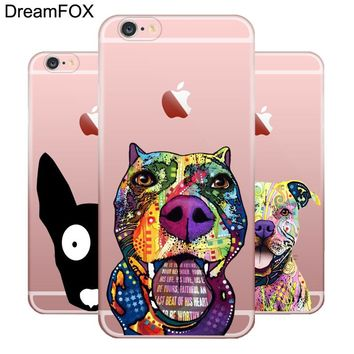 L076 Pitbull Soft TPU Silicone  Case Cover For Apple iPhone X 8 7 6 6S Plus 5 5S SE 5C 4 4S