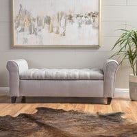 Lamara Modern Armed Storage Bench