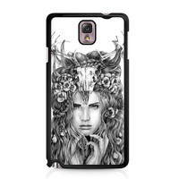Skull Woman Art Printing Samsung Galaxy Note 3 case