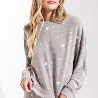 The Lux Star Pullover in Heather Grey by Z Supply
