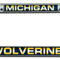 Michigan Wolverines Laser Cut Chrome License Plate Frame