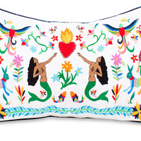 Mermaid Otomi Lumbar Pillow