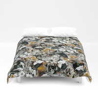 Botanical Gold Duvet Cover by RIZA PEKER