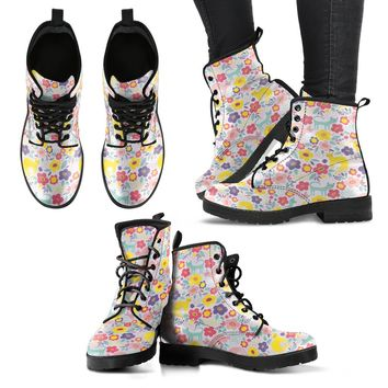 Cat Pattern Handcrafted Boots