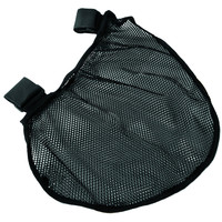 Evelots® Attachable Stroller Net Storage Bag, Baby Supplies Travel Pouch, Black