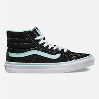 Vans Pop Sk8-Hi Slim Womens Shoes Black/Blue  In Sizes