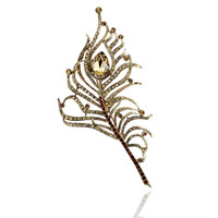 2016 New Vintage Rhinestone Peacock feather Brooches For Women Pins Crystal Broches Bouquets Jewelery Broach Gift 5colors #BO021