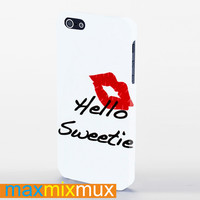 Kiss Hello Sweetie iPhone 4/4S, 5/5S, 5C Series Full Wrap Case