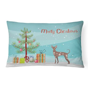 Mexican Hairless Dog Christmas Tree Canvas Fabric Decorative Pillow CK3473PW1216