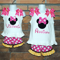 Minnie Mouse Boutique Outfit by SCembroideryboutique on Etsy