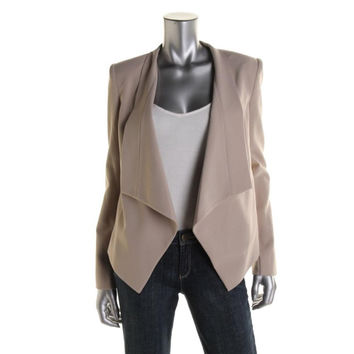 BCBG Max Azria Womens Abree Relaxed Long Sleeves Open-Front Blazer