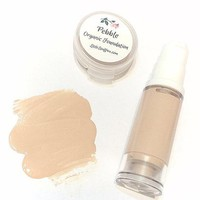 PEBBLE Liquid ORGANIC Foundation - Natural Makeup Vegan Gluten Free - Serum Liquid Minerals Fair Light Skin