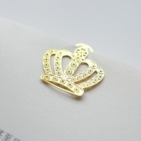 Simple Metal crown bookmark gold plated Mini bookmark school gift