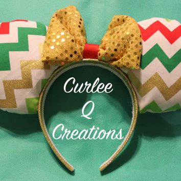 Christmas Chevron Ears