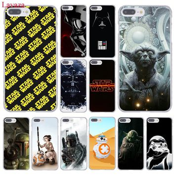 Lavaza YODA STAR WARS The Force Awakens Hard Phone Case for Apple iPhone 8 7 6 6S Plus X 10 5 5S SE 5C 4 4S