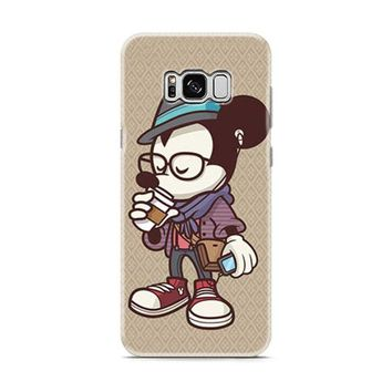Mickey Mouse hipster coffee Samsung Galaxy S8 | Galaxy S8 Plus case