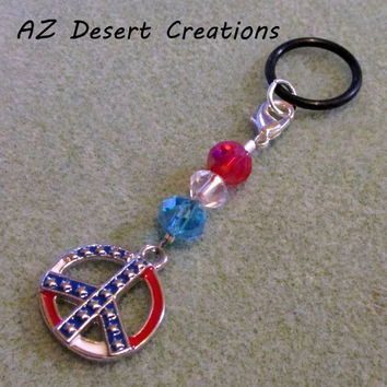 Peace Sign American Flag MOD PV Charm Electronic Cigarette Charm