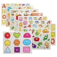 Kid Early educational toys baby hand grasp wooden puzzle toy