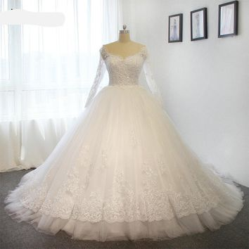 Wedding dresses puffy ball gown