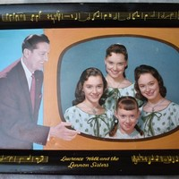 Lawrence Welk and The Lennon Sisters Tray 1950's Vintage