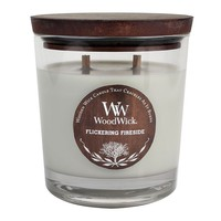 WoodWick Flickering Fireside 17.2-oz. Jar Candle (Grey)