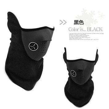 Outdoor Sports Fleece Motorcycle Winter windproof Warm Face Ski mask Cap Bicyle Bike Thermal Balaclavas Scarf