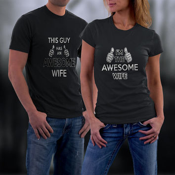 Couples Shirts, Personalized Couple Shirts. Awesome Couple Match Shirts, Ladies and Men Tshirt
