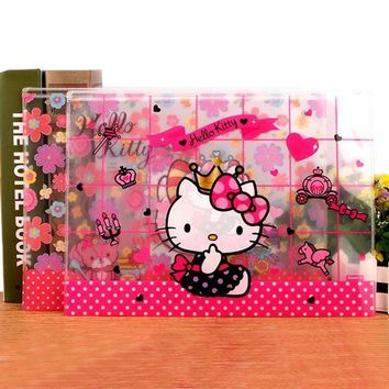 1 Pcs hot Cute hello Kitty A4 File Bag Document Bag File Folder Stationery Filing Production School Supply