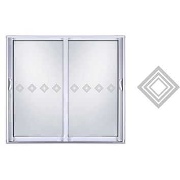 Sliding Door Safety Film Etched Glass Vinyl Decal Sticker Triangle