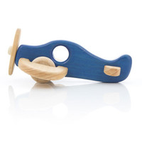 Blue Wooden Aeroplane