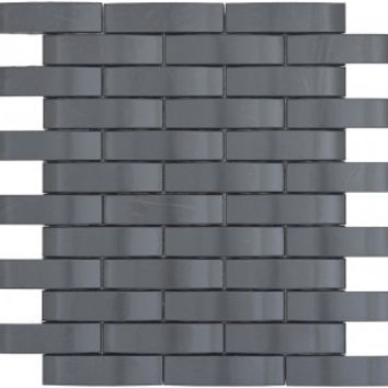 Black Basket Weave Stainless Steel Tile