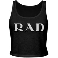 P RAD A Top: Custom Junior Fit Bella Crop Top Tank Top - Customized Girl