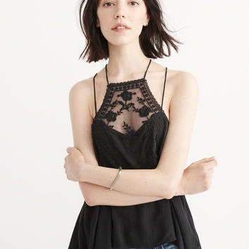 Womens Lace Square Neck Cami | Womens Shirts & Dresses Sale | Abercrombie.com