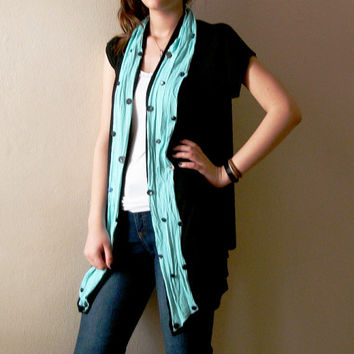Women's Upcycled Boho vest Tunic Size L Large