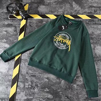 Stussy Woman Men Fashion Top Sweater Pullover