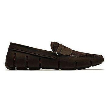 Men's Water Resistant Penny Loafer in Brown by SWIMS