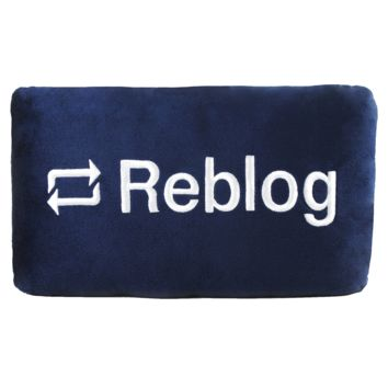 Reblog Button Pillow