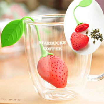 Leaf Silicone Lovely Cute Creative Hollow Out Fruits [6284228550]