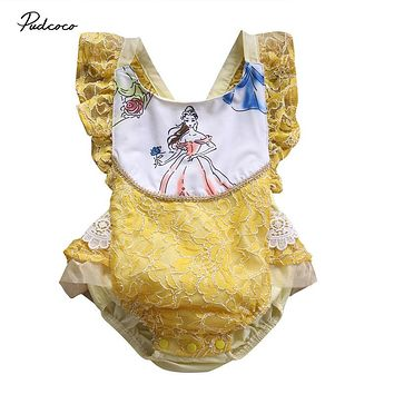 Toddler Infant Baby Girls Lace Ruffles Romper New Arrival Summer Jumpsuit Outfts Playsuit