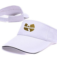 DEBANG Wu-Tang Clan Hip-Hop Band Logo Adjustable Visor Cap Embroidery Sun Hat Sports VisorsWhite