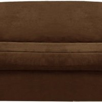 Maytex Piped Suede 2-Piece Sofa Slipcover, Brown
