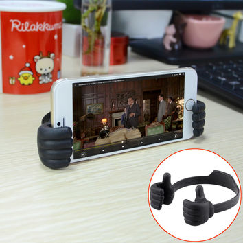 Creative Thumb Stand for Smart Phone Tablet IPad - Black