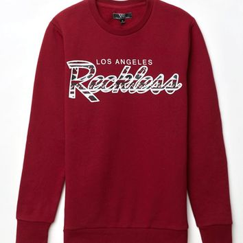 Young & Reckless Reckless Navajo Crew Neck Sweatshirt - Mens Hoodie - Maroon