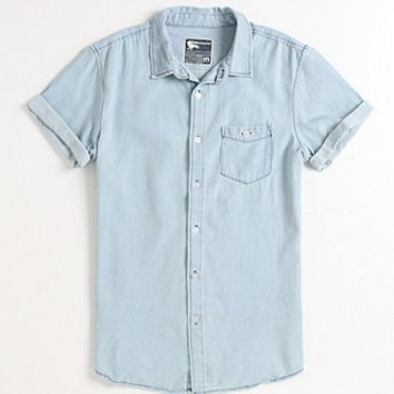 Modern Amusement Wash Short Sleeve Denim Shirt at PacSun.com