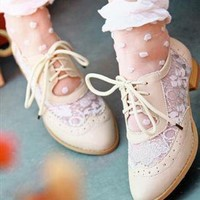 vintage Lace up Shoes from sniksa