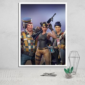 fortnite canvas poster canvas painting wall art oil painting paint schilderij framework for a photo modular picture deco house 5