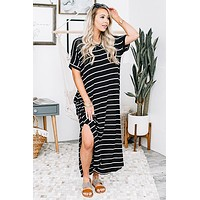 Finders Keepers Striped Maxi Dress
