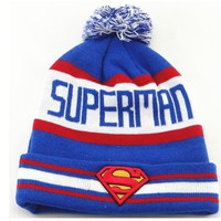 Superman Beanie Hats Warm Winter Knitted caps men Women hip hop sports cap = 1946150596