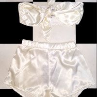 SWEET LORD O'MIGHTY! BABYGIRL SILK SET IN PEARL